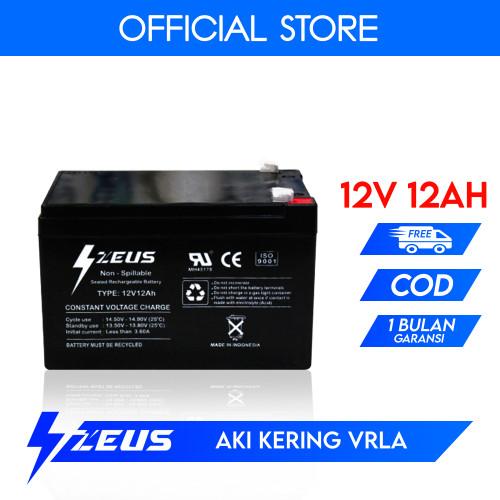 Foto Produk Aki Kering Lead Acid Baterai VRLA 12V 12Ah Zeus Solar Panel Surya dari Zeus Battery