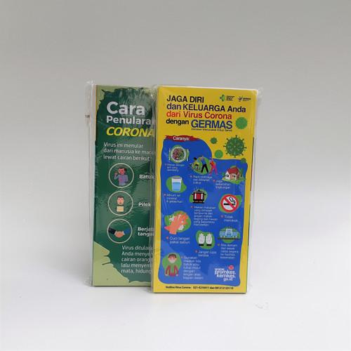 Foto Produk Flyer Germas dan Cara Penularan dari Syafana
