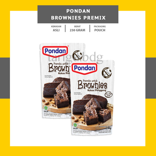 Foto Produk BROWNIES PREMIX PONDAN 230GR - TEPUNG BROWNIS PANGGANG KUKUS INSTANT dari Tarigu_bdg