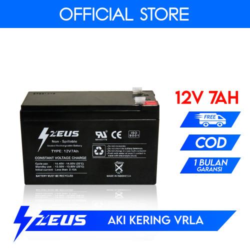 Foto Produk Aki Kering VRLA GEL Deep Cycle Battery UPS Zeus 12V 7Ah dari Zeus Battery