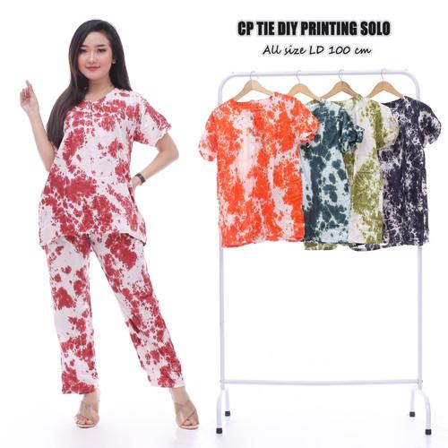 Foto Produk Setelan Celana Panjang Tidie / Baju Tidur Batik / Busui dari RisqianaBatik