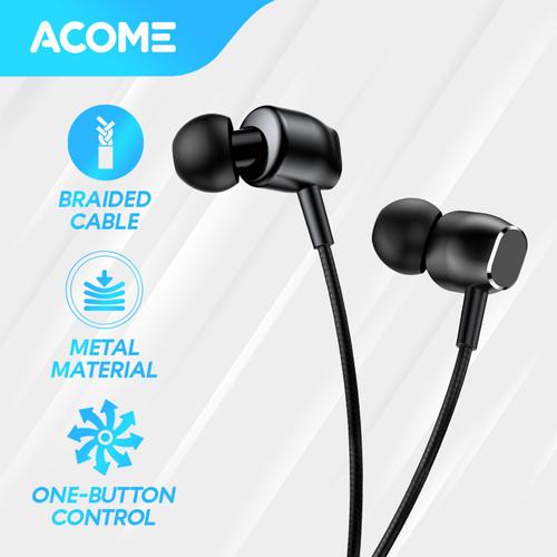 Foto Produk ACOME Headset Super Bass Microphone Semi In Ear Wired Earphone dari Acome Indonesia
