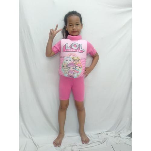 Foto Produk BAJU RENANG ANAK NGAPUNG ASIK BUAT BERENANG - Merah Muda, M dari hera collection