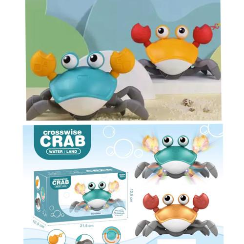 Foto Produk Mainan Mandi Anak Cute Crab, Kepiting Tali, Kepiting Air dan Darat - Hijau dari MIAtamia