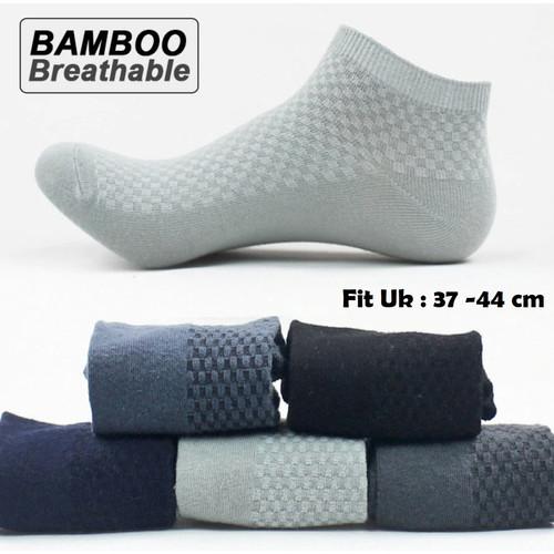 Foto Produk KK50 Kaos Kaki Original Serat Bambu Arang Bamboo Pendek Semata Kaki - dark blue dari Dneo Store