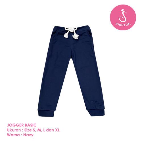 Foto Produk Celana Jogger Anak Model Basic 1-8 Tahun Shirton - BASIC NAVY, Size S dari shirton