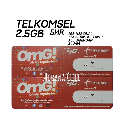 Foto Produk Voucher Paket Data Telkomsel 2.5GB dari Hosana Cell Official