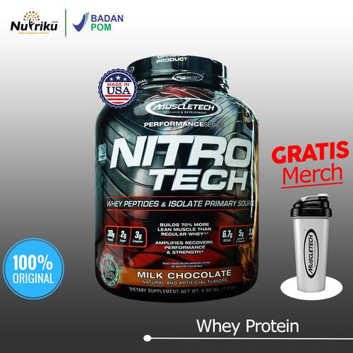 Foto Produk Muscletech Nitrotech Whey Protein 4LB BPOM - Chocolate dari Nutriku