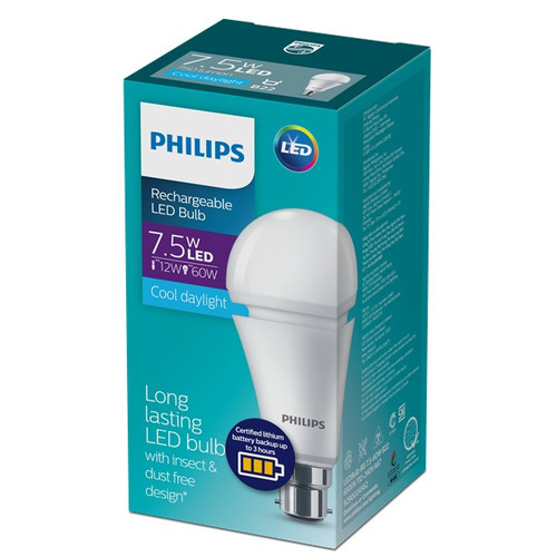 Foto Produk Philips Rechargeable LedBulb 7W 6500K Putih dari Philips Lighting ID