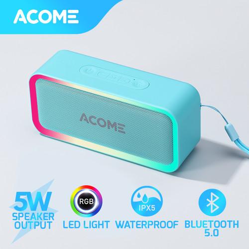 Foto Produk ACOME Bluetooth Speaker TWS 5W RGB LED Party IPX5 Waterproof A6 - Teal dari Acome Indonesia