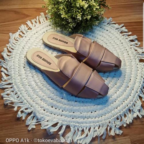Foto Produk 40-43 big size besar sandal wanita Eva shoes selop A065 a - pink, 41 dari Eva Shoes (tokoevabuana)