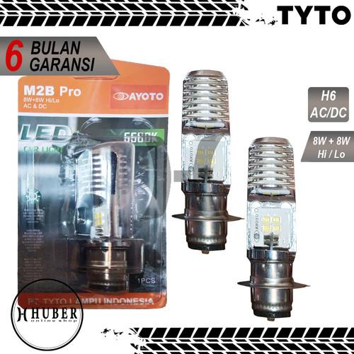 Foto Produk Lampu Motor Depan LED TYTO AYOTO M2B PRO H6 AC DC Motor Bebek Matic dari HUBER Online_Shop