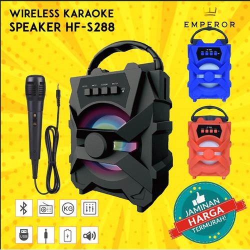 Foto Produk Speaker Bluetooth + Mic Karaoke HF S288 Spk Wirelles Portable MURAH!!. - Hitam dari TokoEmperor 1