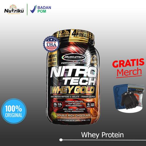 Foto Produk Muscletech Nitrotech Whey Gold 2.2LB BPOM - Chocolate dari Nutriku