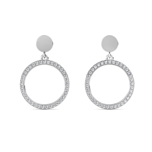 Foto Produk Cruz Round Earrings - Anting Crystal Swarovski by Her Jewellery - White Gold dari Her Jewellery