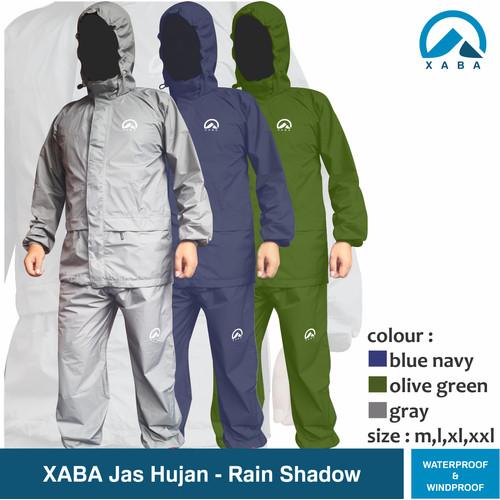 Foto Produk Jas hujan XABA - Rain shadow - waterproof windrproof full sealen - M dari XABA