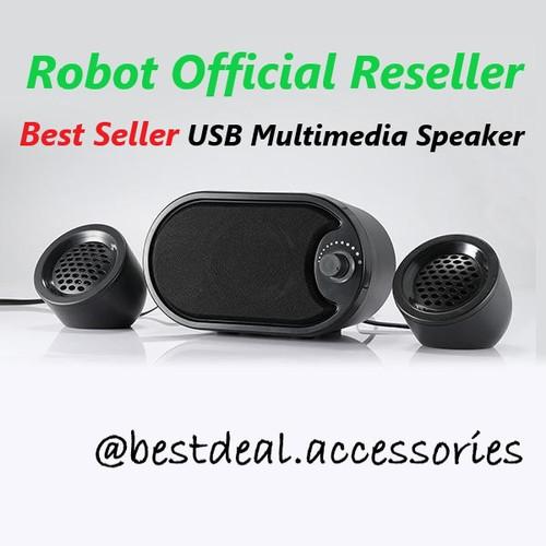 Foto Produk Robot RS170 USB Multimedia Speaker Komputer Stereo with LED dari Bestdeal Accessories