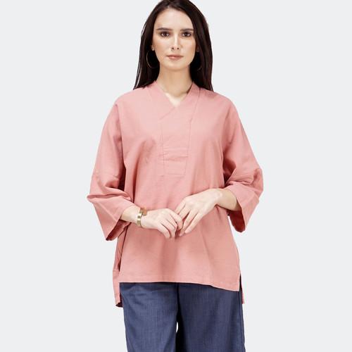Foto Produk Blouse Wanita / Alga Dark Pink Shirt 23428T5DP - Bodytalk - M dari Bodytalk