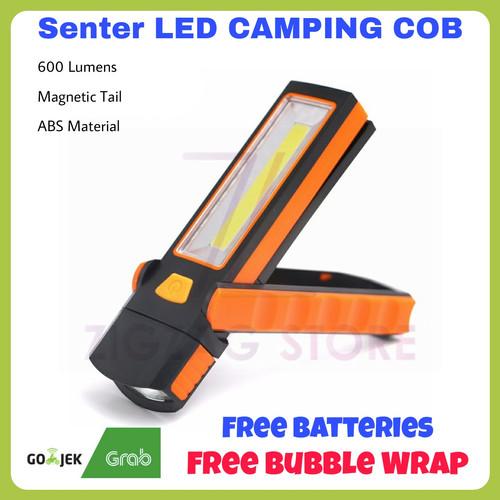 Foto Produk Paket Senter LED Camping COB Magnetic 600 Lumens + Baterai dari ZigZag-Store