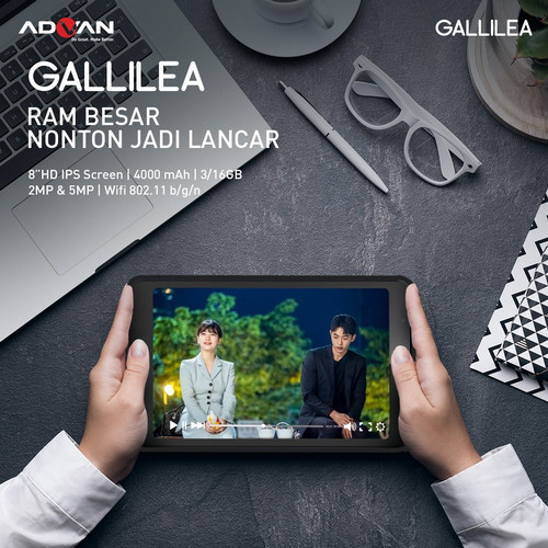 Foto Produk Advan Tablet GALLILEA 3/16Gb 8inch Garansi Resmi dari Senjaya Selindo