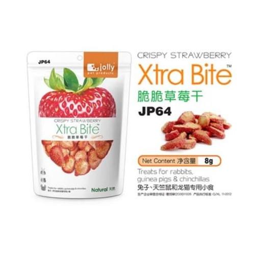 Foto Produk JP64 Jolly Crispy Strawberry 8gr Snack Kelinci Hamster Marmut Chinchil - EXP 2022-04 dari Hime petshop