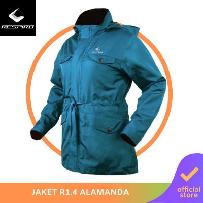 Foto Produk Respiro Alamanda   Jaket Motor Wanita Windproof (Detachable Hoodie) - Hijau, S dari Respiro Official Store