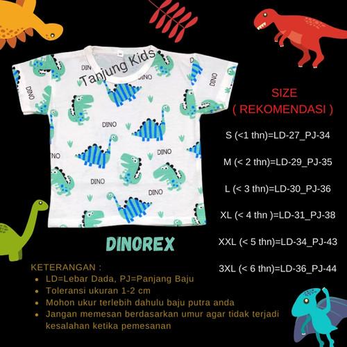 Foto Produk Baju kaos atasan bayi anak laki laki cowok full print murah kekinian - DINOREX, S dari Tanjung Kids