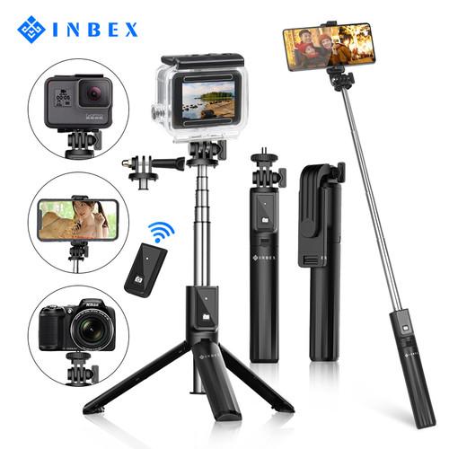 Foto Produk INBEX P40s Tongsis 4 in 1 Bluetooth Selfie Stick Tripod for HP Camera dari INBEX Official Store
