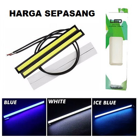 Foto Produk Lampu DRL LED Plasma 17 CM COB Strip 17CM Grill Mobil Motor Putih Biru - Biru dari Motovindo