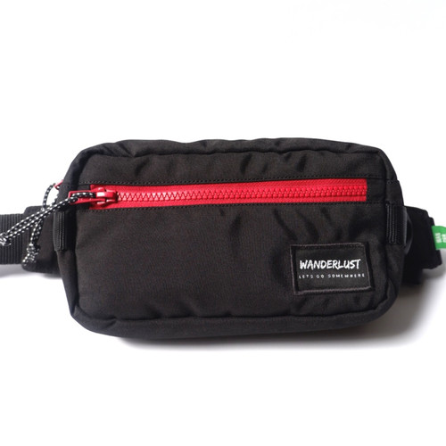 Foto Produk Wanderlust Nooga Hippack Hip Pack Selempang Waistbag Sling Black Red dari Wanderlustbag Official