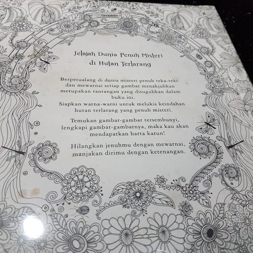 Foto Produk Adult Coloring Book FORBIDDEN FOREST - Kondisi 85% dari Just_Store