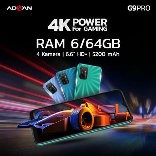 Foto Produk Advan G9 Pro 6/64 Ram 6GB Internal 64GB Garansi Resmi - Biru dari dk-cell