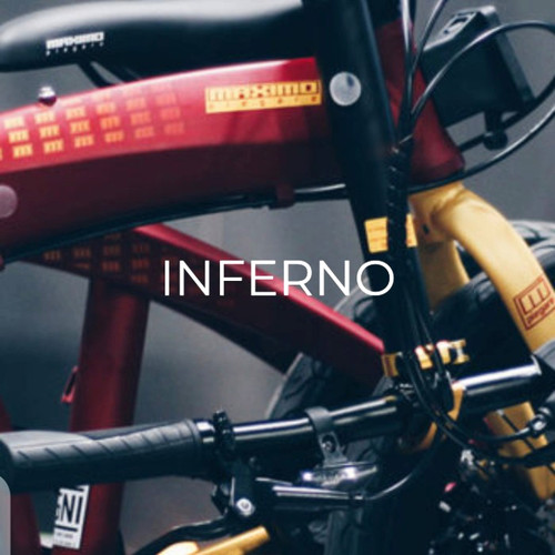 Foto Produk Sepeda Lipat Maximo Piegare Cyclo BX8 8.0 20 inch SNI Inferno - Merah dari sepeda viral