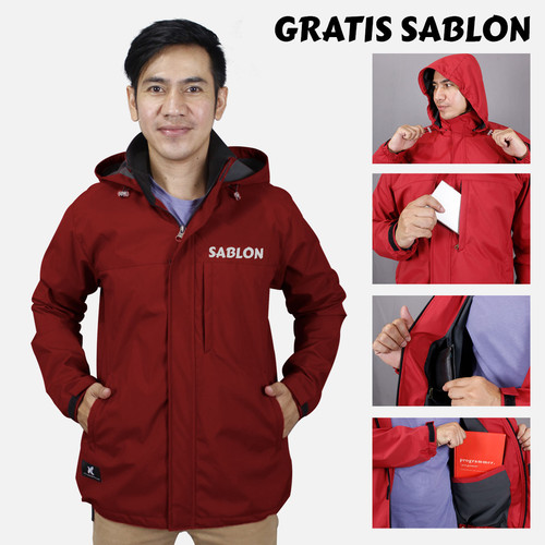 Foto Produk JAKET VERTIKAL - JAKET ANTI AIR DAN TAHAN ANGIN - WATERPROOF AND WINDP - Abu Tua, S dari Rumah Komunitas Official