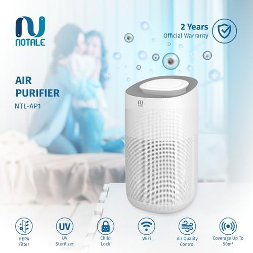 Foto Produk Notale Air Purifier with HEPA UV Sterilizer Up 50m2 - AP HEPA 13 dari MiFa Official Store