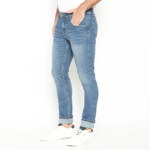 Foto Produk Papperdine 712 L.Indigo Slim Fit Celana Panjang Jeans Pria Selvedge - 34 dari Papperdine Jeans