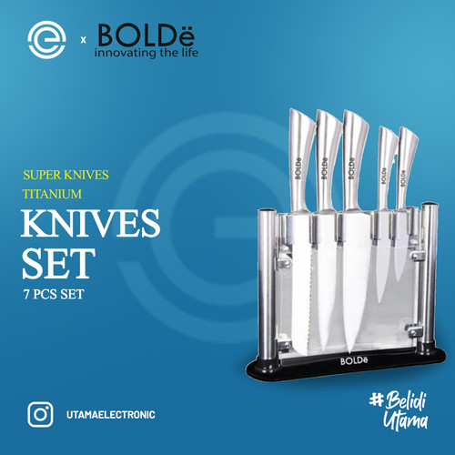 Foto Produk BOLDe Pisau Dapur Stainless Set Titanium - Super Knives dari UTAMA_ELECTRONIC