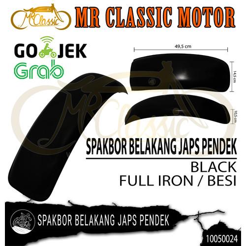 Foto Produk Spakbor Belakang Japs Pendek Hitam dari Mr. Classic Motor