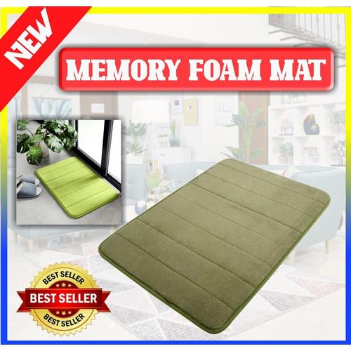 Foto Produk Keset Kaki Bahan Memory Foam Serap Air / Memory Foam Mat - 100312 - Biru dari Home - Living Stuff