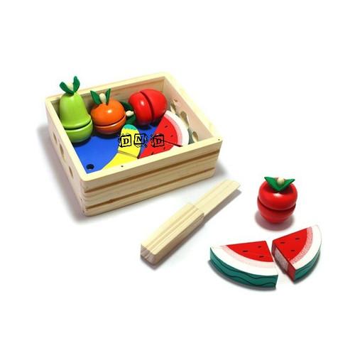 Foto Produk Mainan Edukatif / Edukasi - Mainan Kayu - Buah Potong / Roti Potong dari Toko DnD