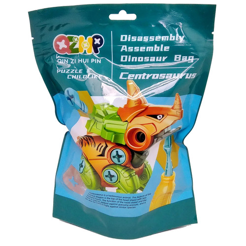 Foto Produk DIY Dino Puzzle Mainan Dinosaurus Plastic Bag with Skrup Education Toy - Centrosaurus dari Grandia Shop