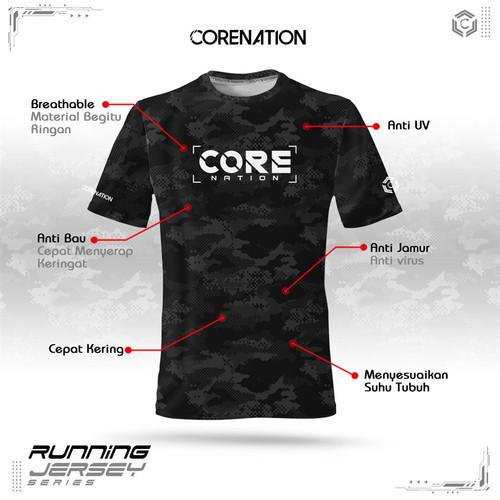 Foto Produk CoreNation Active Camo Running Jersey - Merah, M dari CoreNation Active