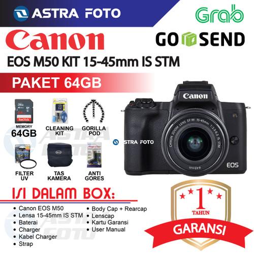 Foto Produk CANON EOS M50 / CANON M50 KIT 15-45 PAKET 32GB KAMERA MIRORRLESS - Unit Only dari Astra Foto