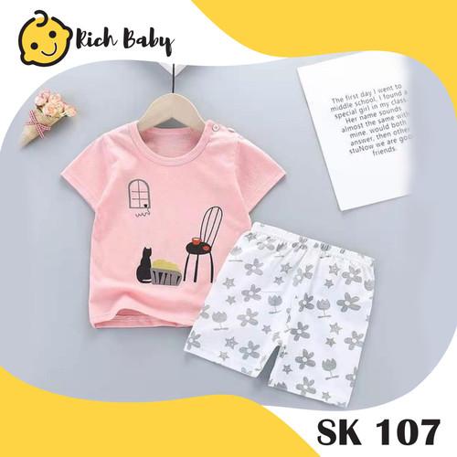 Foto Produk SK107 / Stelan Anak Perempuan / Set Baju Anak Perempuan / Baju Anak - SK107, 80 dari Rich Baby Store