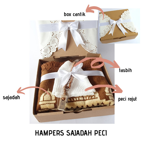 Foto Produk HAMPERS KADO COWOK SAJADAH PECI FREE TASBIH GIFT CARD & BOX EKSKLUSIF dari Mazaya Mukena
