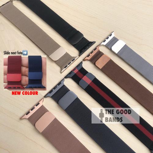 Foto Produk Strap Apple Watch Series 5 Milanese Loop Stainless Band Tali 40mm 44mm dari The Good Bands