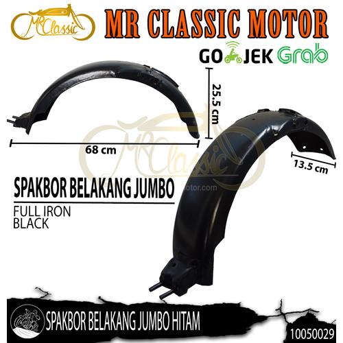 Foto Produk Spakbor / Slebor Belakang Custom Variasi CB125 Jumbo Hitam dari Mr. Classic Motor