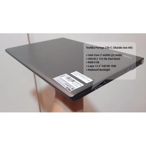 Foto Produk Toshiba Portege Z30-C -Intel i7 Gen6th-SSD M2 512Gb dari NJ.KOMPUTER