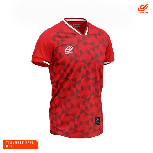 Foto Produk JERSEY DJSPORT HEXA SERIES ORIGINAL - Merah, L dari Topscore Sport