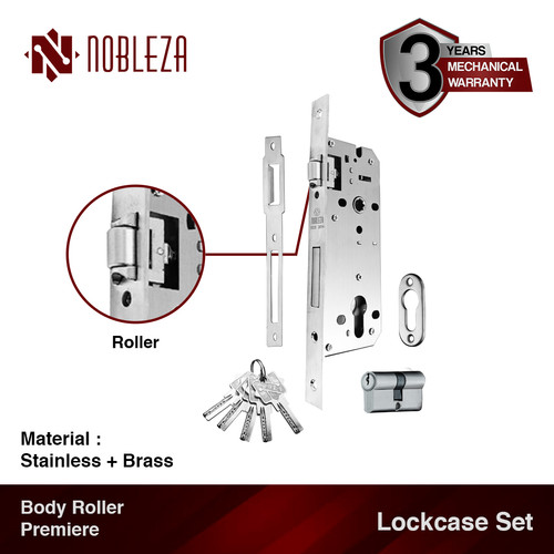 Foto Produk NOBLEZA Lockcase Set Body Roller Premiere Pelor Kunci Pintu Rumah dari Nobleza Hardware
